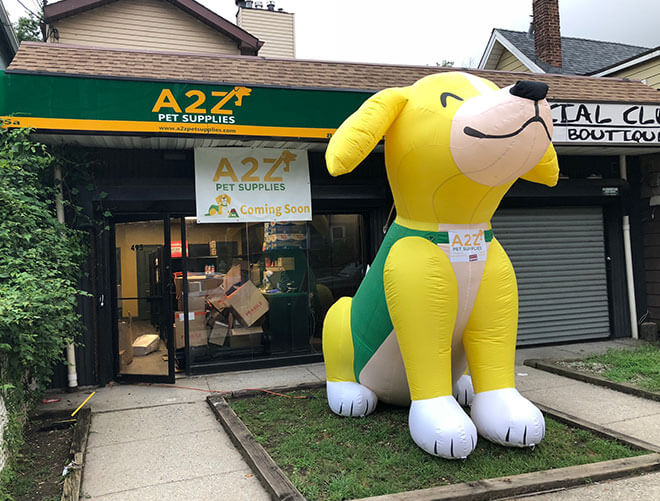Below is 15ft tall inflatable Dog order we made for USA client