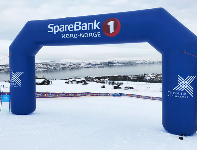 Below is inflatable archway order for SpareBank we made for Norway client